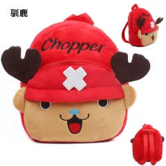 One Piece Chopper Kawaii Cartoon Bag Wholesale Anime Plush Backpack Bags for Kids