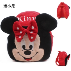Disney Minnie Mouse Kawaii Cartoon Bag Wholesale Anime Plush Backpack Bags for Kids