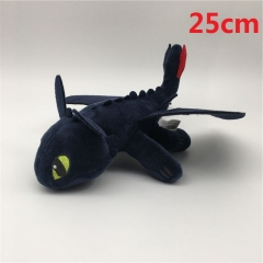 How to Train Your Dragon Night Fury Cartoon Stuffed Doll Wholesale Anime Plush Toys 25cm