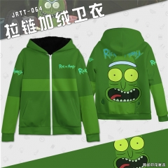 Rick and Morty  Pattern Cartoon Hooded Hoodie Fashion Cosplay Print Anime Sweater Hooded Thick Zipper Hoodie
