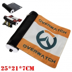 Overwatch Game Reel Canvas Pencil Bag