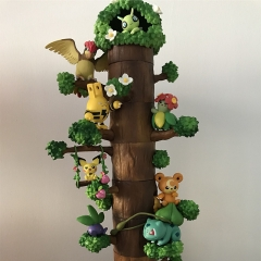 Pokemon Forest Stump Cosplay Cartoon Model Toys Statue Collection Anime Action PVC Figure