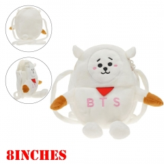 K-POP BTS BT21 Bulletproof Boy Scouts Plush Backpack Bag