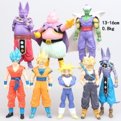 Dragon Ball Z 1 Generation Cartoon Cosplay Collection Toys Statue Anime PVC Figures (8pcs/set)