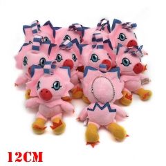 Digimon Digital Monster Anime Plush Keychain Set