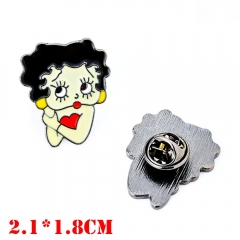 Betty Boop Anime Alloy Badge Pin