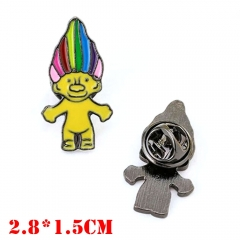 Trolls Movie Alloy Badge Pin