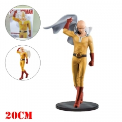 One Punch Man Cartoon Model Toys Statue Saitama Anime PVC Figure 20cm