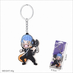One Piece Cartoon Cosplay Two Sides Soft Plastic PVC Keychain