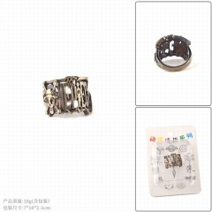 One Piece Cartoon Cosplay Hollow Decoration Alloy Ring