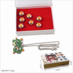 Dragon Ball Z Anime Ring and Anime Alloy Necklace Pendant Set