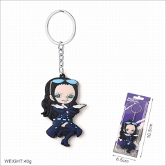 One Piece Robin Cartoon Cosplay Two Sides Soft Plastic PVC Keychain