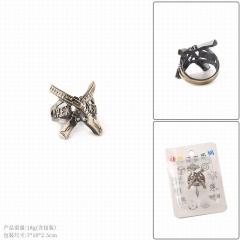 Apex Legends Game Cosplay Hollow Decoration Alloy Ring