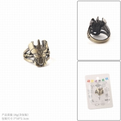 Mazinger Z Cartoon Cosplay Hollow Decoration Alloy Ring
