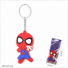 Spider Man Movie Cosplay Two Sides Soft Plastic PVC Keychain