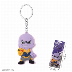 The Avengers Thanos Movie Cosplay Two Sides Soft Plastic PVC Keychain