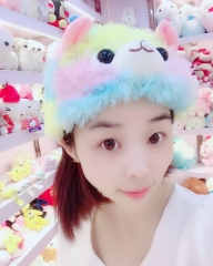 Alpaca Anime Colorful Plush Hat