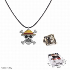 One Piece Anime Alloy Ring and Necklaces Set