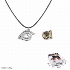 Naruto Anime Alloy Ring and Necklaces Set