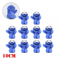 Sesame Street Anime COOKIE MONSTER Plush Toy Keychain (10pcs/set)