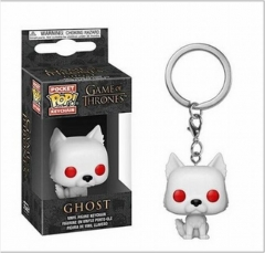 Funko POP Game of Thrones Ghost Cosplay Collection Anime Pocket Keychain