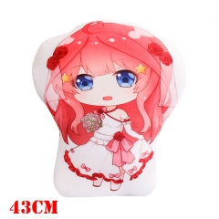 The Quintessential Quintuplets Anime Nakano Itsuki Plush Stuffed Doll Cushion Pillow