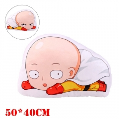 One Punch Man Anime Saitama Plush Stuffed Doll Cushion Pillow