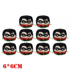 DC Comics Teen Titans Anime Plush Keychain Set(10pcs)
