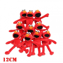 Sesame Street Anime ELMO Plush Toy Keychain COOKIE MONSTER Plush Doll(10pcs/set)