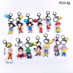 Dragon Ball Z Cartoon Cosplay Decoration Pendant Anime Figure Keychain (13pcs/set)