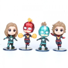 Captain Marvel Movie Cosplay Collection Model Toy Anime PVC Figure (4pcs/set)