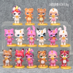 Unicorn Cosplay Collection Model Toy Anime PVC Figure (16pcs/set)