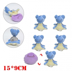 Pokemon Anime Ditto Cos Lapras Plush Keychain (5pcs/set)