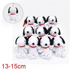 Snoopy Anime Plush Toy Keychain Set