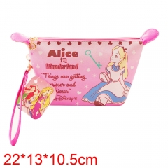 Alice in Wonderland Movie PU Leather Purse Cosmetic bag