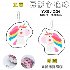 Unicorn Shape Cartoon Cosplay Decorative Bag Anime Plush Pendant Keychain