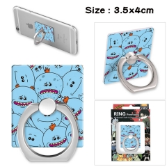 Rick and Morty Stick Alloy Ring Fashion Anime Phone Support Frame