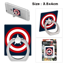 Captain America Stick Alloy Ring Fashion Anime Phone Support Frame