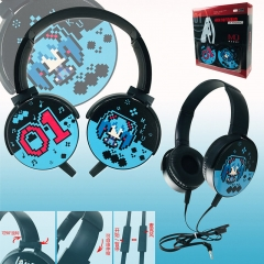 Hatsune Miku Colorful Printing Anime Rotatable Headphone Earphone