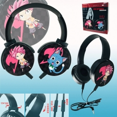 Fairy Tail Colorful Printing Anime Rotatable Headphone Earphone