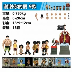 One Piece ~cry heart~ thank you for your love Series Toy Anime PVC Figure Set