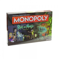 Rick and Morty Board Game Monopoly Playing Card Anime Crafts