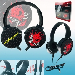 Cyberpunk 2077 Colorful Printing Anime Rotatable Headphone Earphone