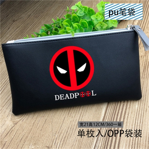 Buy Diary Of A Roblox Deadpool High School Roblox Deadpool - Deadpool Cosplay Cute Cartoon Pattern For Student Anime Pencil Bag