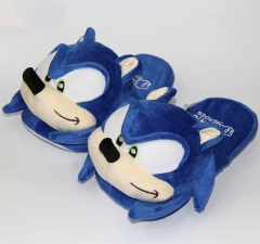 Sonic Game Cosplay Cartoon For Adult Indoor Anime Plush Slipper