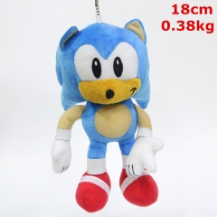Sonic Game Character Cosplay Keyring Dolls Anime Plush Pendant Toy (5pcs/set)
