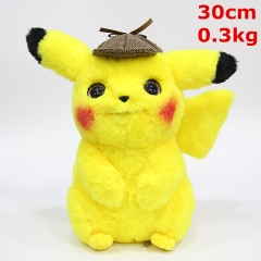 Pokemon Detective Pikachu Movie Cartoon Character Cosplay Dolls Anime Plush Toy