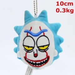Rick and Morty Cosplay Cartoon Character Keyring Dolls Anime Plush Pendant Toy (10pcs/set)