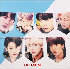 K-POP BTS Bulletproof Boy Scouts Around The Star Hanging Flag Hanging Picture Photo Wall Painting