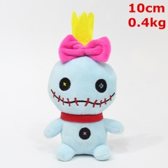 Lilo & Stitch Movie Cosplay Cartoon Character Keyring Dolls Anime Plush Pendant Toy (10pcs/set)